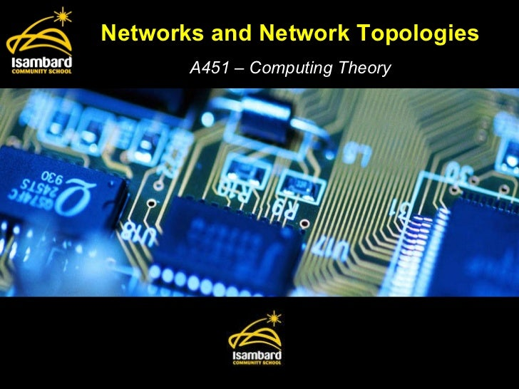 Networks and Network Topologies A451 – Computing Theory