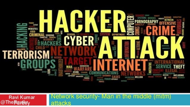 Ravi Kumar @TheRavikr Purbey  Network security- Man in the middle (mitm) attacks