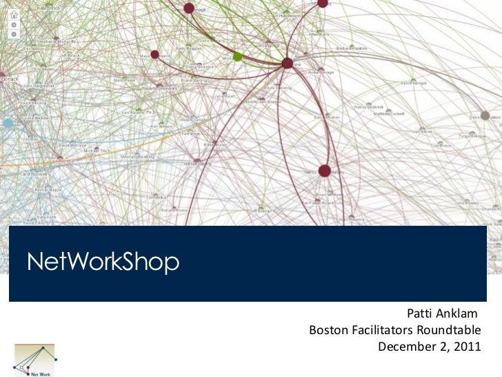 NetWorkShop                                Patti Anklam              Boston Facilitators Roundtable                       ...