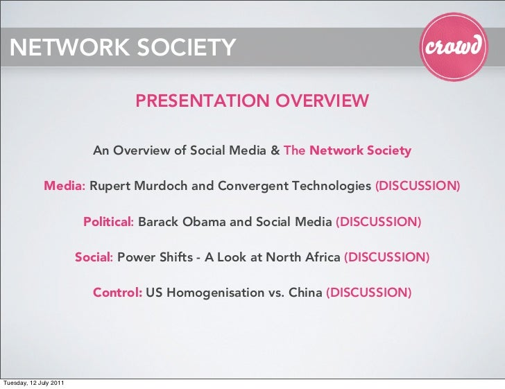 NETWORK SOCIETY                                 PRESENTATION OVERVIEW                          An Overview of Social Media...