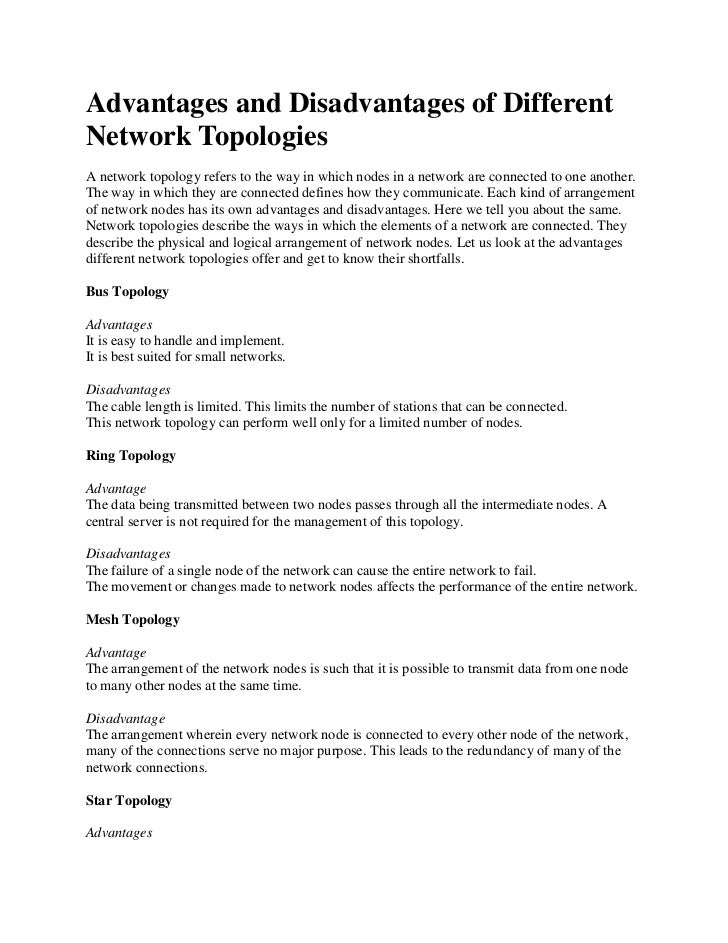 Wikipedia Network Topology Network Topology Refers to