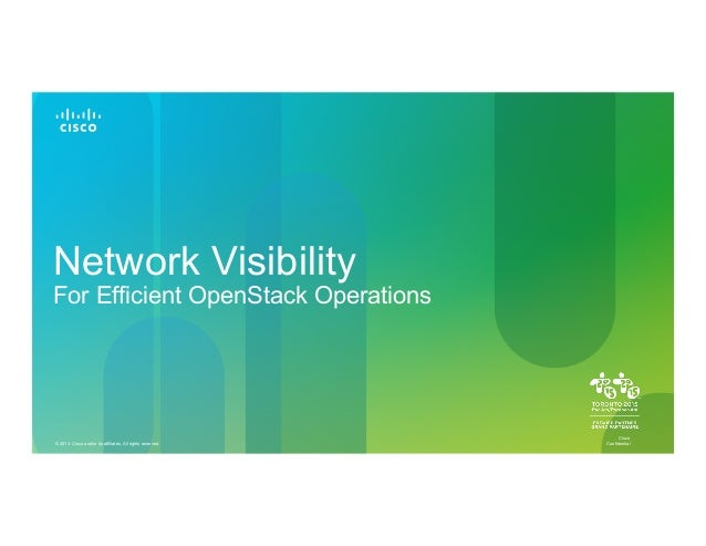 Network Visibility For Openstack Operations