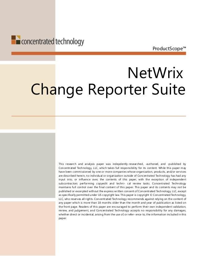 NetWrix Change Reporter Suite - Product Review by Don Jones