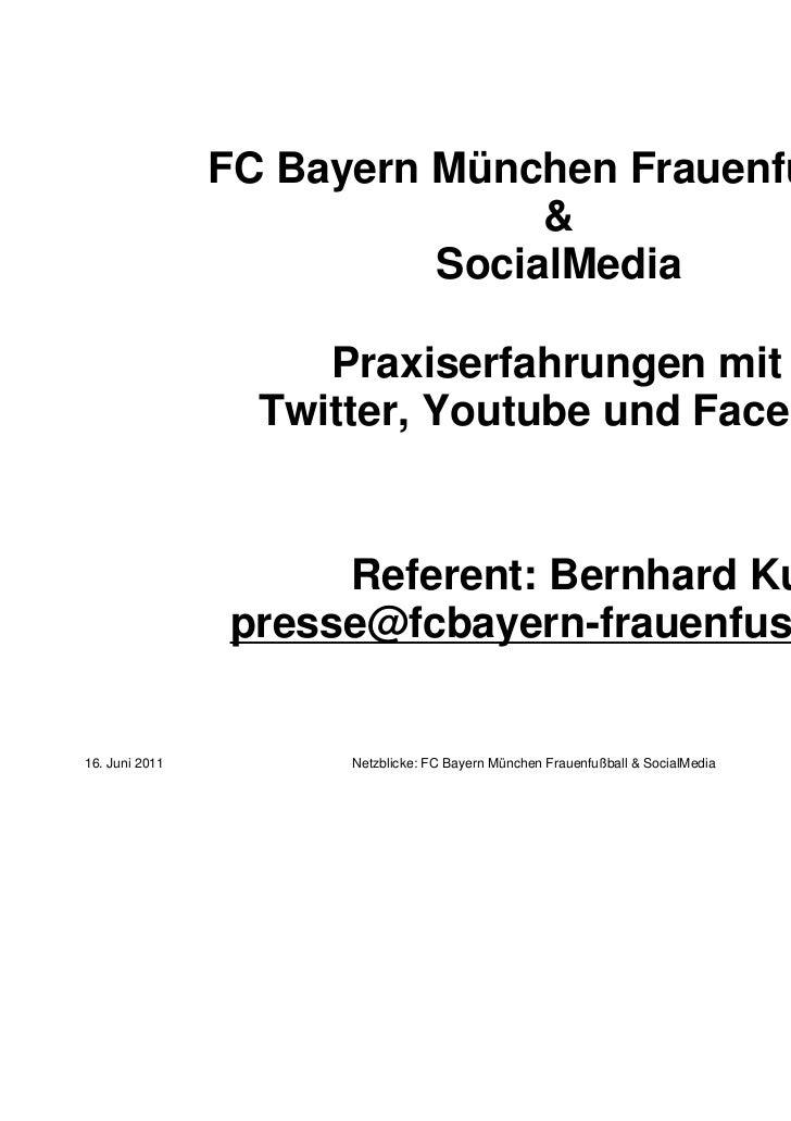 FC Bayern München Frauenfußball                               &                          SocialMedia                     P...