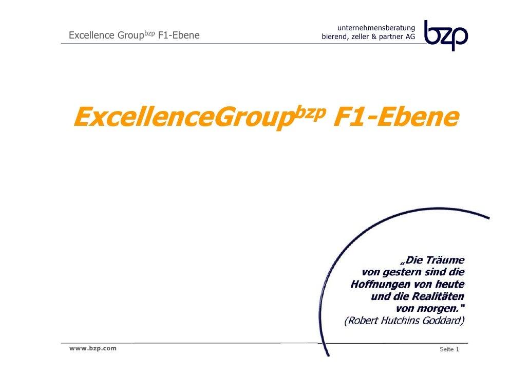 unternehmensberatungExcellence Groupbzp F1-Ebene   bierend, zeller & partner AGExcellenceGroupbzp F1-Ebene                ...