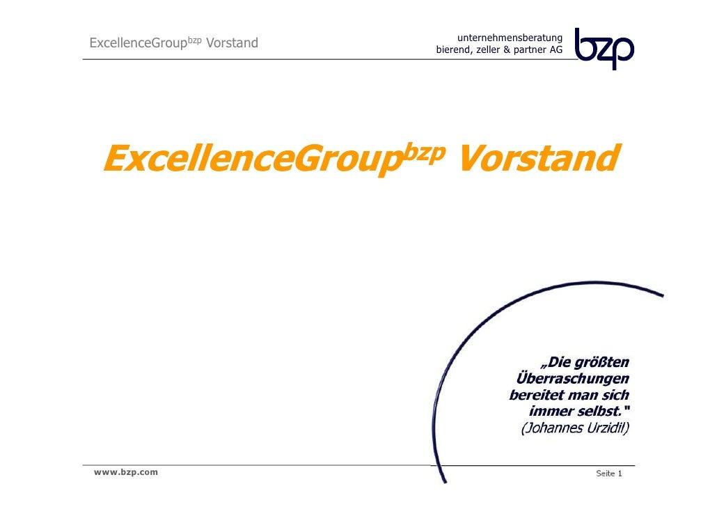 unternehmensberatungExcellenceGroupbzp Vorstand   bierend, zeller & partner AG ExcellenceGroupbzp Vorstand                ...