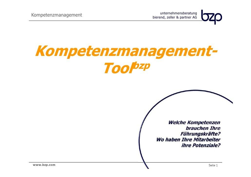 unternehmensberatungKompetenzmanagement   bierend, zeller & partner AG Kompetenzmanagement-        Tool bzp               ...