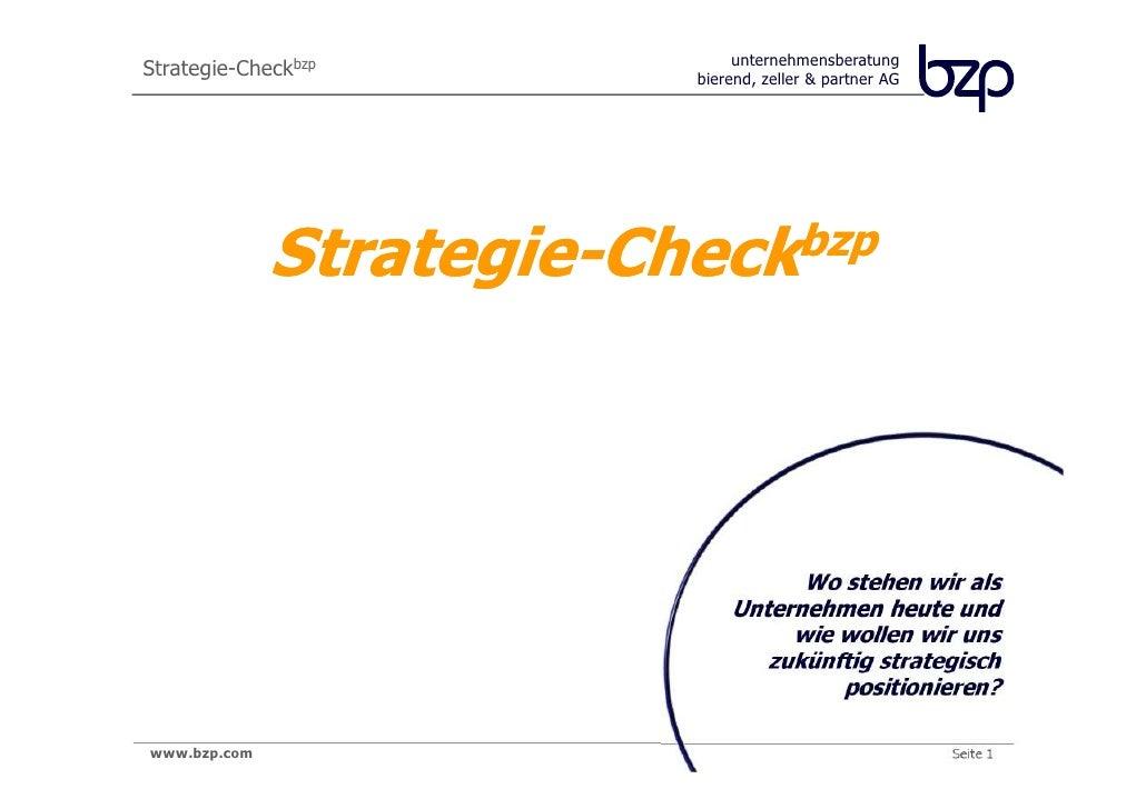 unternehmensberatung                          bierend, zeller & partner AG              Strategie-Checkbzp                ...