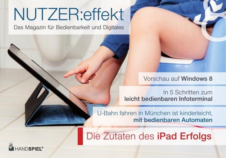 NUTZER:effektDas Magazin für Bedienbarkeit und Digitales                                                                   ...