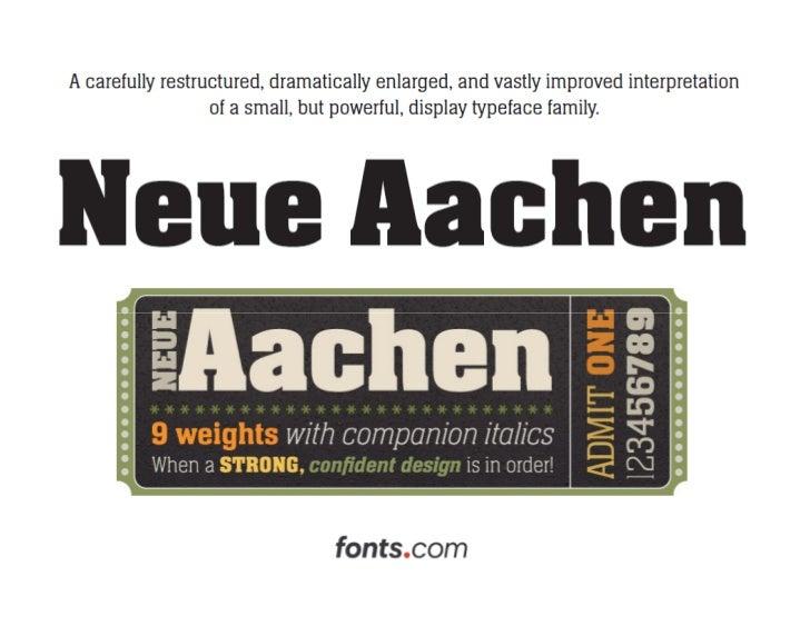 Neue Aachen Typeface by Jim Wasco