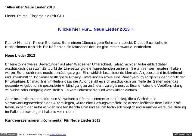 """""""Alles über Neue Lieder 2013  Lieder, Reime, Fingerspiele (mit CD)                                                     Kli..."""