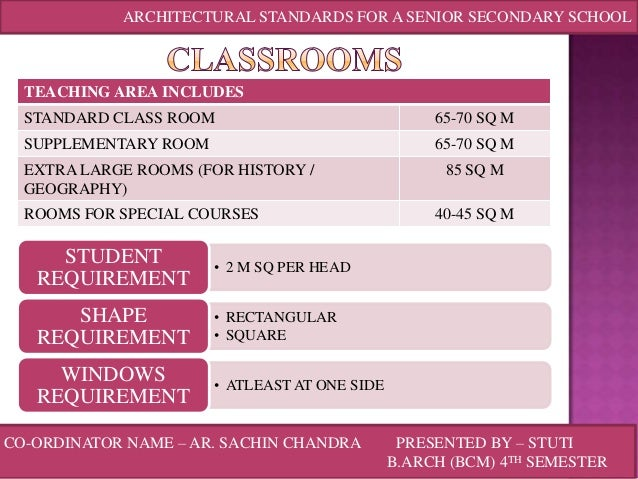 Classroom Design Standards Guidelines ~ Architectural standards