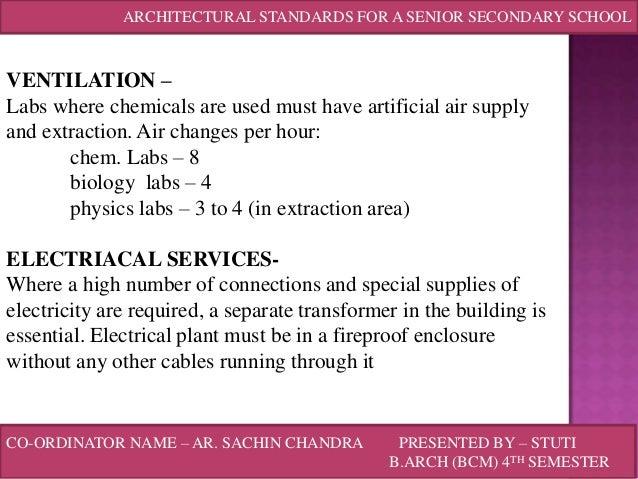 Primary School Classroom Design Standards ~ Architectural standards