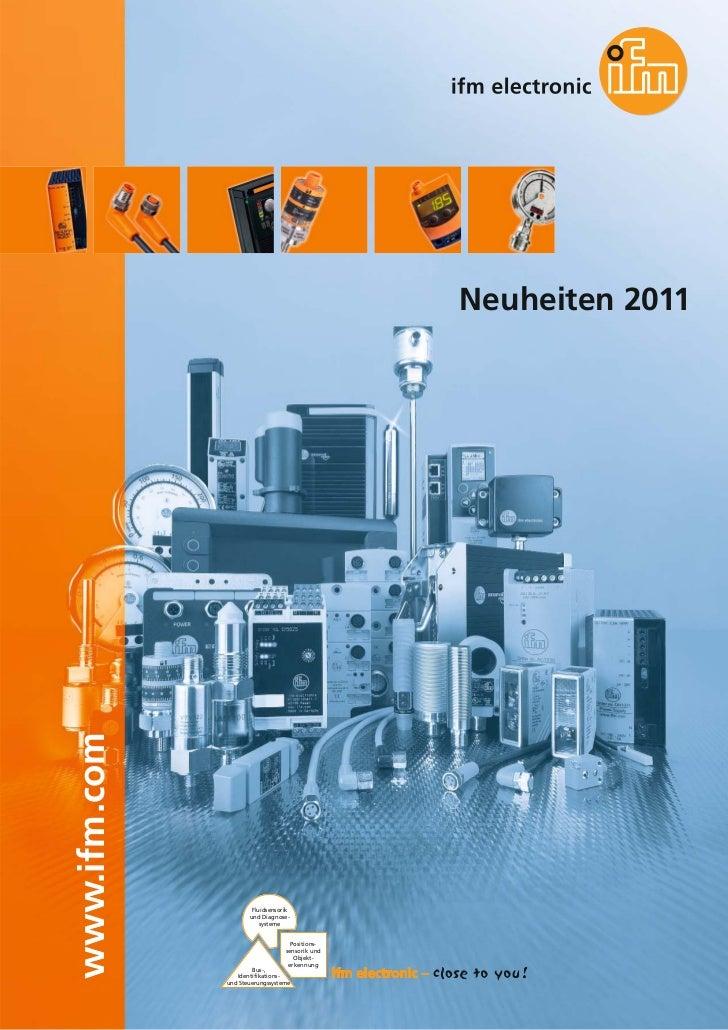 ifm Neuheitenkatalog 2011