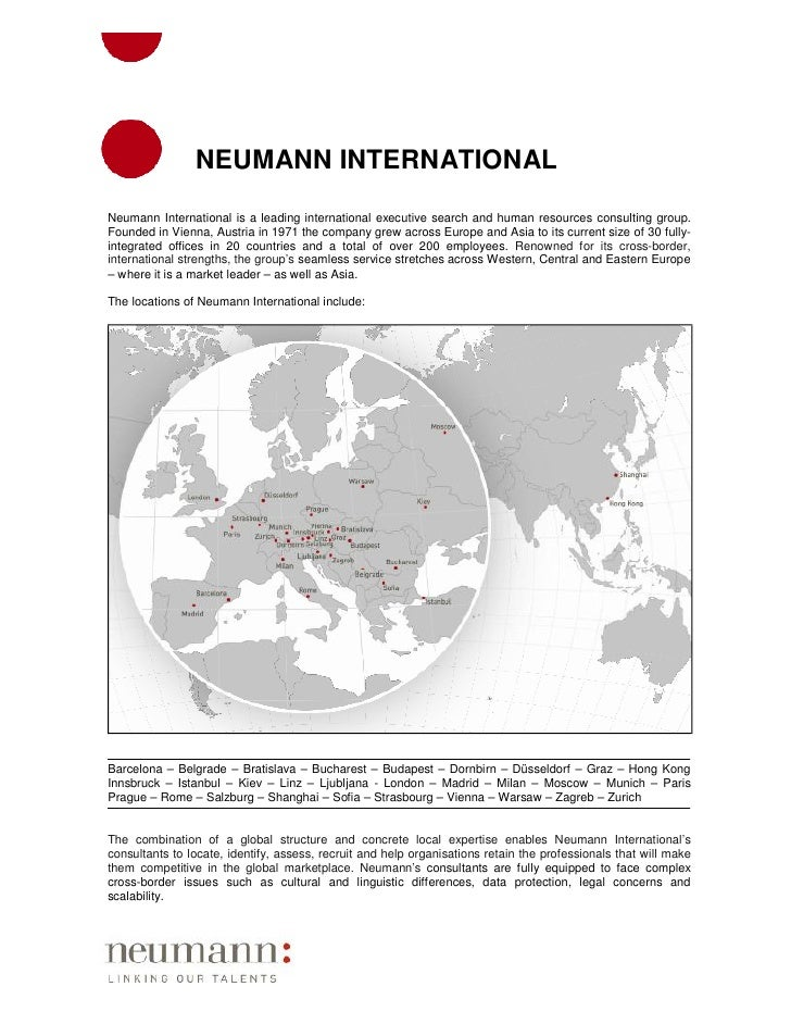 NEUMANN INTERNATIONAL Neumann International is a leading international executive search and human resources consulting gro...