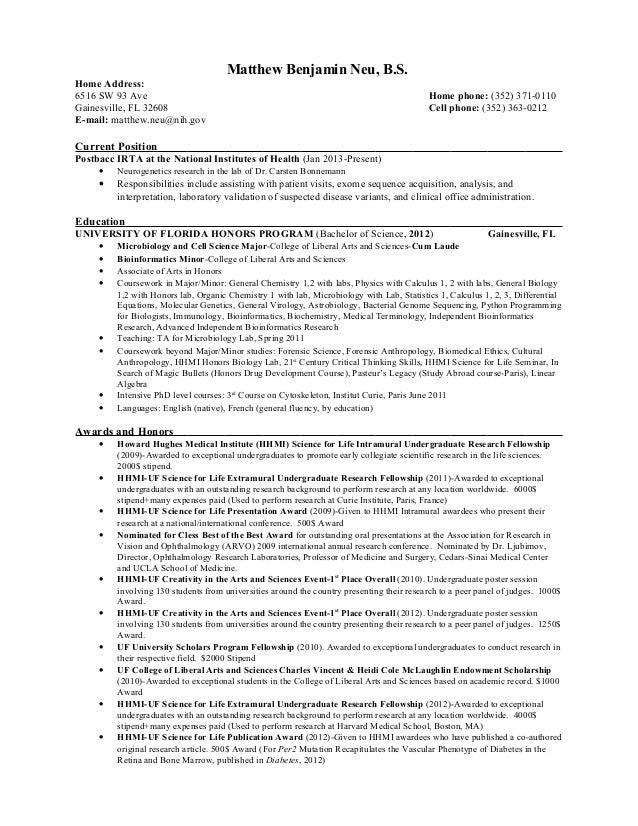 Neu, Matthew B. resume apr 3, 2013