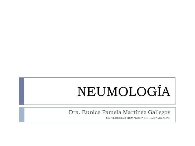FISIOPATOLOGIA: Neumologia