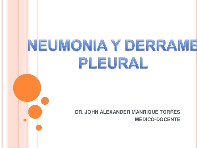 DR. JOHN ALEXANDER MANRIQUE TORRES                   MÉDICO-DOCENTE