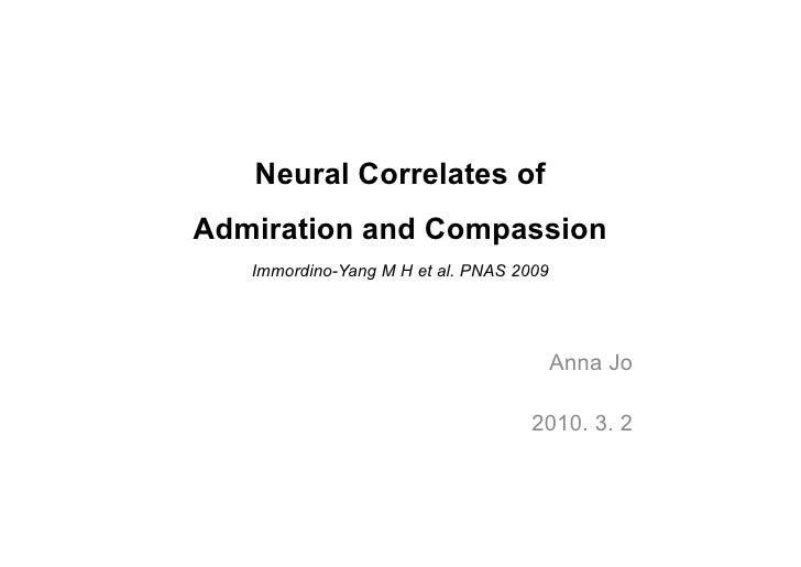 Neural correlates of admiration and compassion