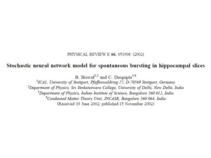 Stochastic Neural Network Model: Part 2