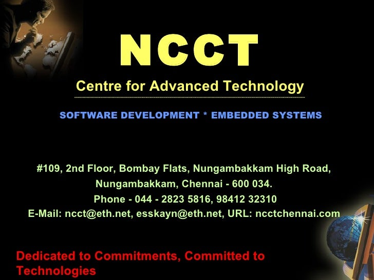 NCCT Centre for Advanced Technology --------------------------------------------------------------------------------------...