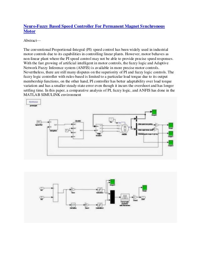 Neuro Fuzzy Based Speed Controller For Permanent Magnet