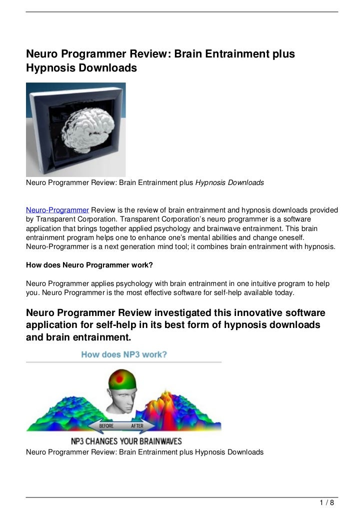 Neuro Programmer Review: Brain Entrainment plus Hypnosis Downloads