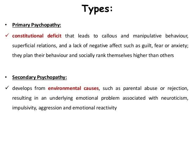 Neurobiology of psychopathic behavior