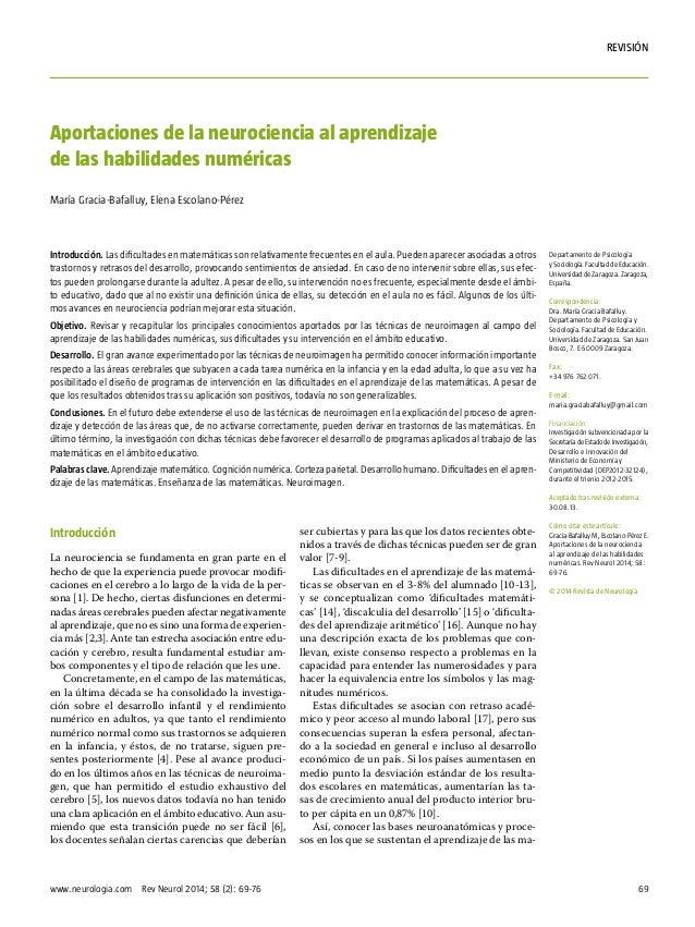 69www.neurologia.com Rev Neurol 2014; 58 (2): 69-76 rEVISIÓN Introducción La neurociencia se fundamenta en gran parte en ...