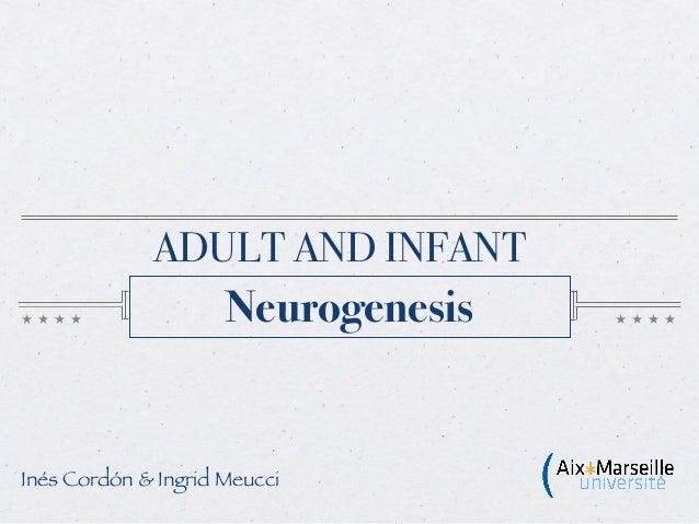 ADULT AND INFANT                     NeurogenesisInés Cordón & Ingrid Meucci
