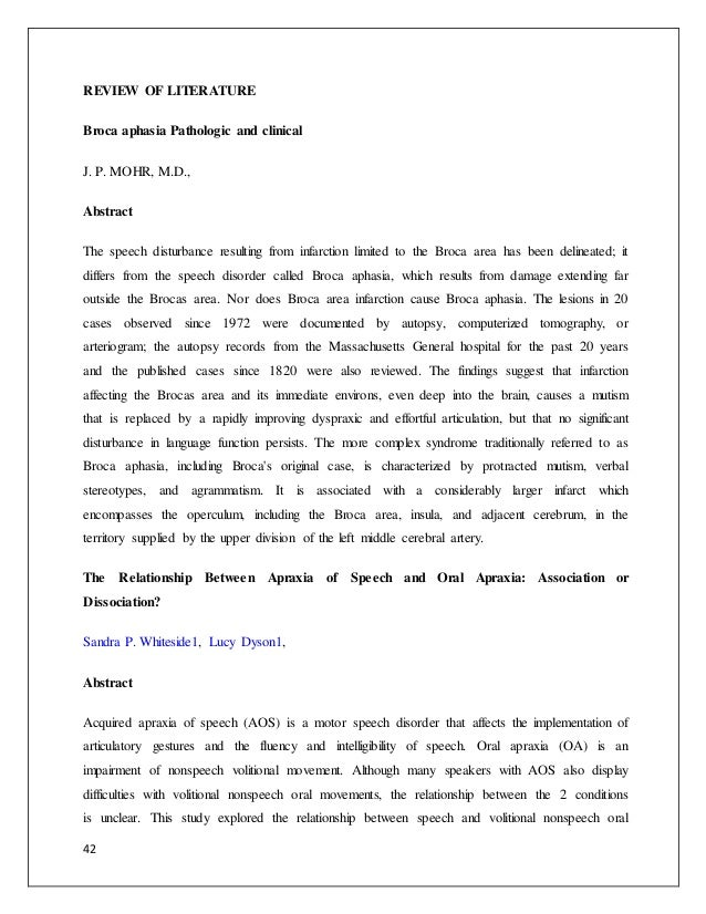 aphasia essay Essay lang iv aphasia - download as word doc (doc / docx), pdf file (pdf), text file (txt) or read online this is an essay about aphasian that i made.