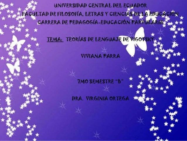 UNIVERSIDAD CENTRAL DEL ECUADOR FACULTAD DE FILOSOFÍA, LETRAS Y CIENCIAS DE LA EDUCACIÓN CARRERA DE PEDAGOGÍA-EDUCACIÓN PA...