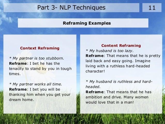 Neuro linguistic programming (nlp)