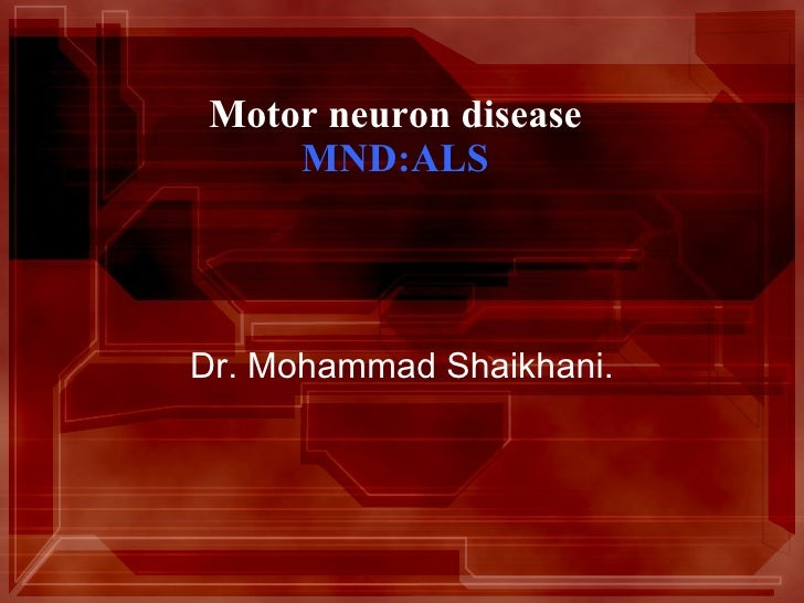 Neurology mnd for 5th year 2011