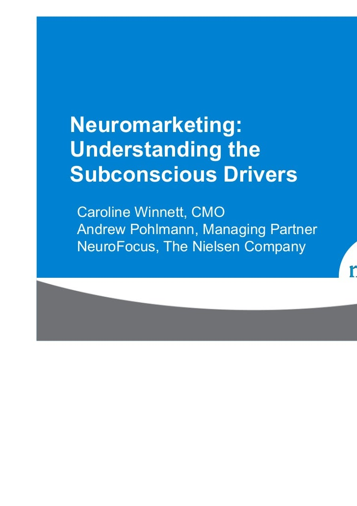 Neuromarketing nielsen webinar july11