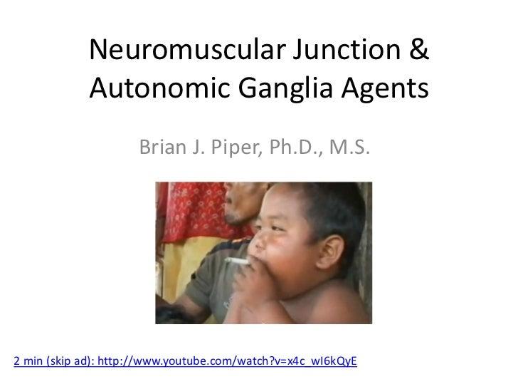 Neuromuscular Junction &            Autonomic Ganglia Agents                     Brian J. Piper, Ph.D., M.S.2 min (skip ad...