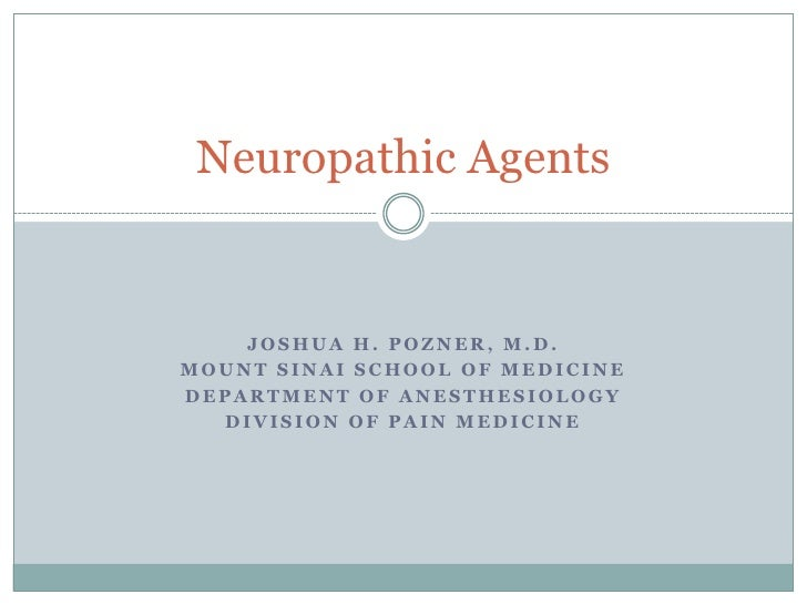 Neuropathic agents