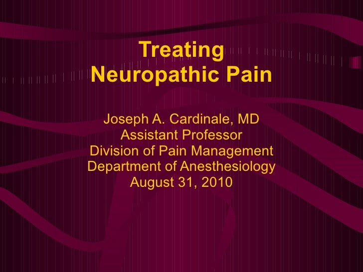 Neuropathic pain revised 2010