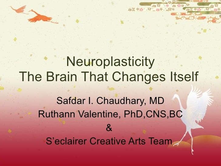 Neuroplasticity The Brain That Changes Itself  Safdar I. Chaudhary, MD Ruthann Valentine, PhD,CNS,BC &  S'eclairer Creativ...