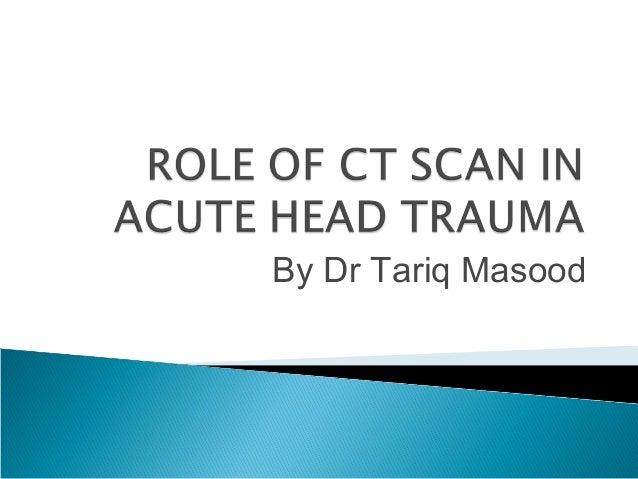 Neuroradiology head trauma