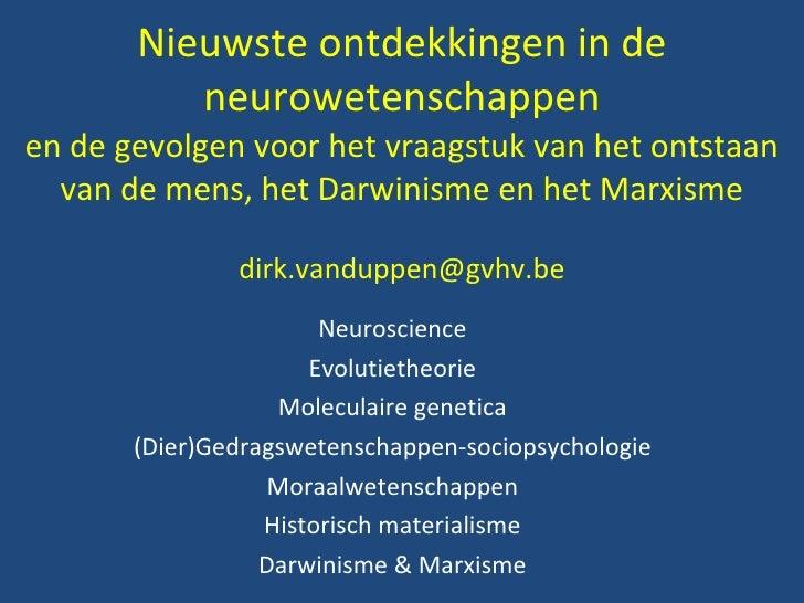 Neuroscience evolutie-cgt