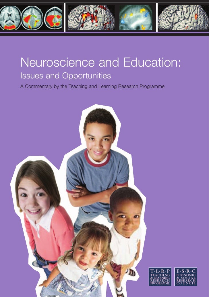 Neuroscience and Education: Issues and Opportunities A Commentary by the Teaching and Learning Research Programme