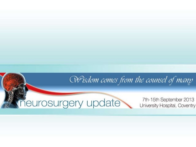 "In keeping with the proverb that""wisdom comes from the counsel of many""   this neurosurgery update course assembles       ..."
