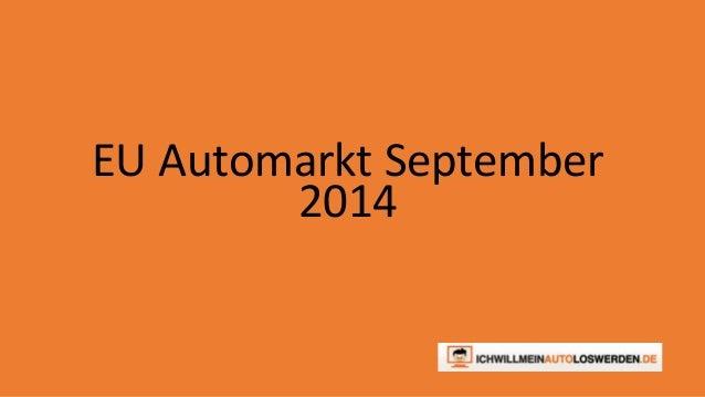 EU Automarkt September  2014
