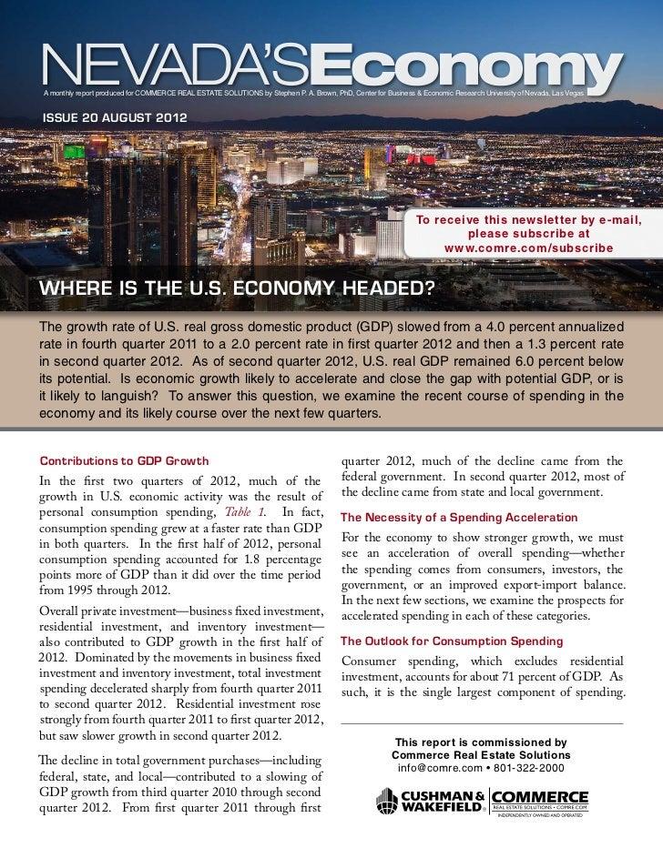 Nevada's Economy - August 2012