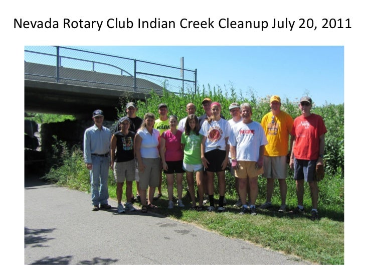 Nevada Rotary Club Indian Creek Cleanup July 20, 2011