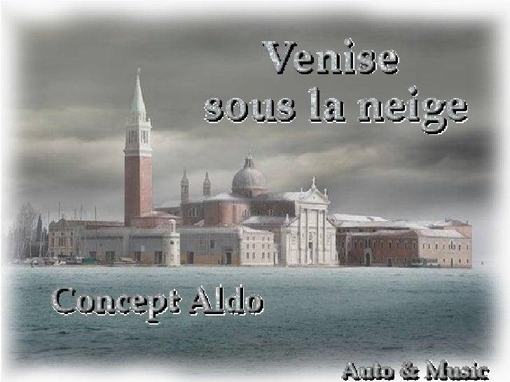 Nieva en Venecia