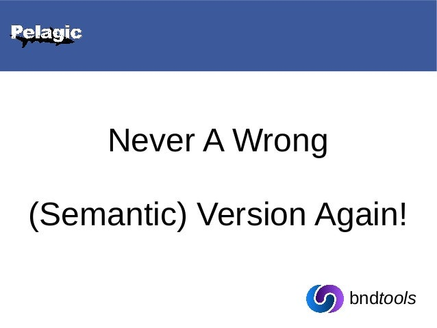 Never a Wrong (Semantic) Version Again! - Ferry Huberts