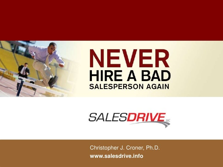 Christopher J. Croner, Ph.D.www.salesdrive.info