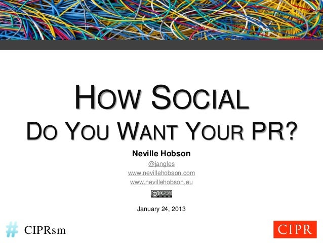 How Social Do You Want Your PR?